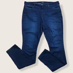 NYDJ Womens Plus Blue Ami Skinny LiftXtuck Jeans